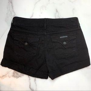 Hudson Jeans Shorts - HUDSON Black Croxley Mid Thigh Shorts Size 28